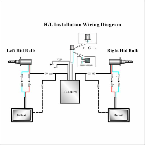 Slimline Ballast Wiring Diagram: XENTEC H4 Telescopic Bixenon Hi/Lo 10000K Advanced Slim