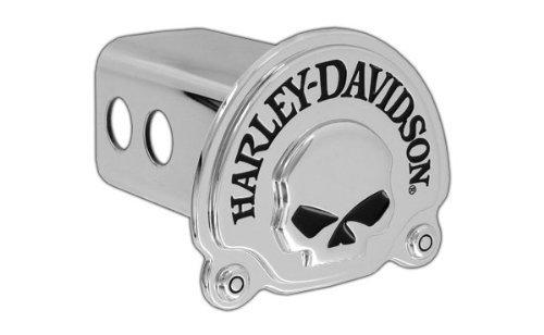 (Harley-Davidson Trailer Hitch Cover Plug 3D Skull Emblem)