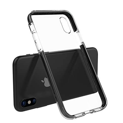 iPhone X Case Shock-Absorption Bumper and Anti-Scratch Silicone Protective Phone Case Clear Back Phone Cover for iPhone X