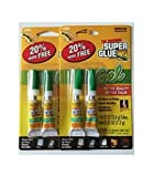 2-2 Packs Original Super Glue Gel .12 oz Tubes Metal Rubber Plastic Adhesive