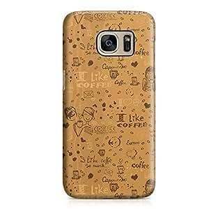 Samsung S7 Case Ilove Coffee Pattern Hard Plastic Tough Samsung S7 Cover Wrap Around