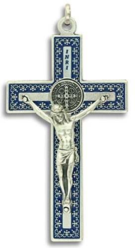 St St. Benedict Crucifix Necklace 3