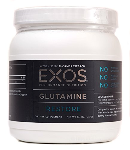 EXOS Performance Nutrition - Glutamine - Supports Lean Muscle Mass During Intense Training - 90 Servings