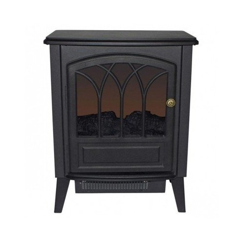 Infrared Electric Heater Stove with Fireplace Design and Wood Finish 1300 Watt