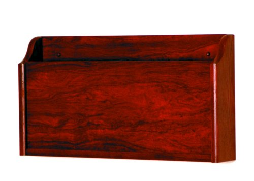 Wooden Mallet X-Ray Wall Pocket, Mahogany Mahogany Wall Magazine Holder