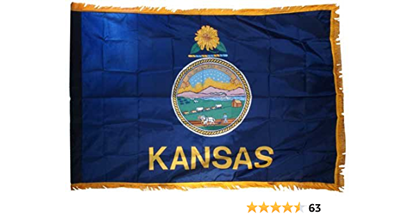 Kansas 3ft X 5ft Printed Polyester Flag Outdoor Flags Garden Outdoor