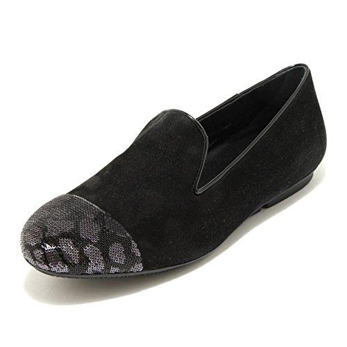 loafer WRAP 144 LAV Nero donna scarpa PANTOFOLA nero HOGAN mocassino 2651G PAILLETTES IXwTvxg