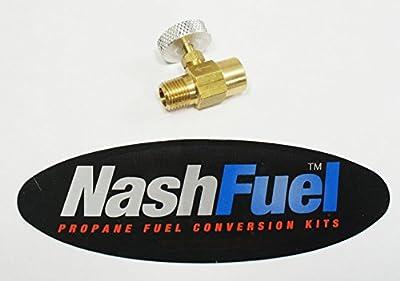 "1/4"" NPT Pipe Thread Adjustable Needle Valve Propane Natural Gas Torch Burner LP by Nashfuel"