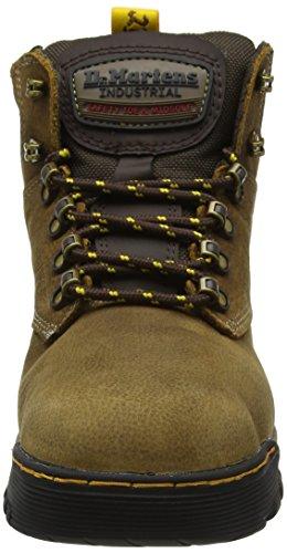 St Ridge De Marron brown Sécurité 203 Brown Mixte dark Chaussures Martens Adulte Dr qFxpw5ETB
