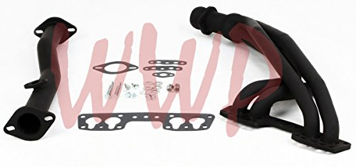 Black Coated Performance Exhaust Header System For 90-95 Toyota Pickup/4-Runner 2.4L 22RE.4WD ONLY (Exhaust System Black Coated Full)