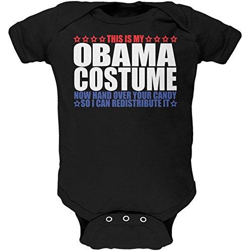 Old Glory Halloween Funny Obama Costume Black Soft Baby One Piece - 18-24 -