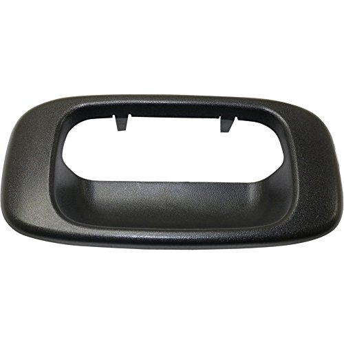 (Tailgate Handle compatible with Chevy Chevy Silverado 99-06 Bezel Outside Textured Black)