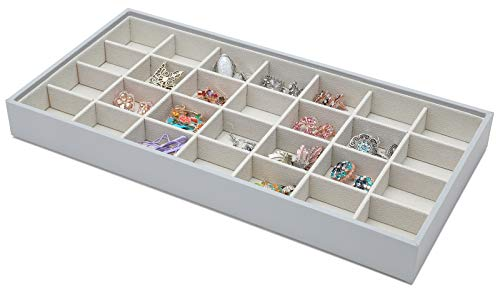 Magic Stackable Jewelry Trays Closet Dresser Drawer Organizer for Accessories, Gadgets & Cosmetics, Storage Display Showcase Holder Box, Set of 2 ()