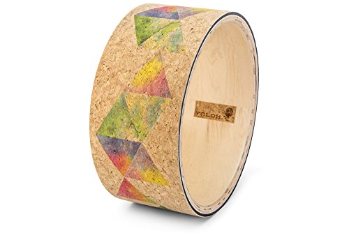 Sacred Geometry Cork Yoga Wheel - Handmade Wooden Yoga Wheel by Yoloha by Yoloha Yoga