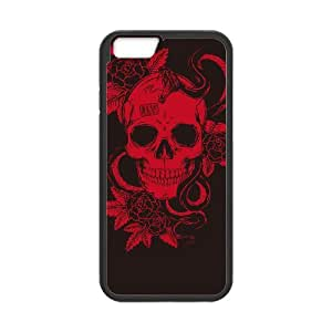 "QSWHXN Skull Art 5 Phone Case For iPhone 6 Plus (5.5"") [Pattern-3]"