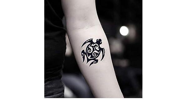 Tatuaje Temporal de Tortuga tribal (2 Piezas) - www.ohmytat.com ...
