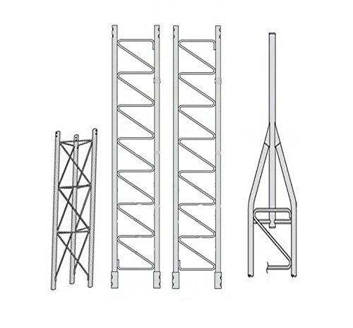 ROHN 45SS030 45G Series 30' Self Supporting Tower Kit, No Ice ()