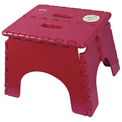 "B&R Plastics 101-6BURG E-Z Foldz Step Stool - 9"", Burgundy: Automotive"