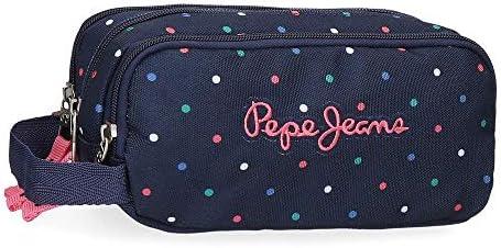 Estuche Pepe Jeans Molly Triple Cremallera, Azul, 22 x 10 x 9 cm: Amazon.es: Equipaje