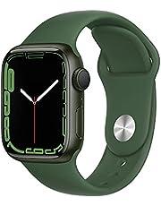 AppleWatch Series7 (GPS) • 41‐mm kast van groen aluminium • Klaver sportbandje- Standaardmaat