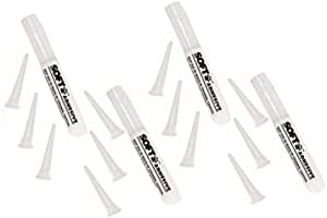 Soft Claws: 4 (Four) Adhesive Glue Sticks & 12 (Twelve) Applicator Tips - Extra Supplies for Canine and Feline Soft Claws