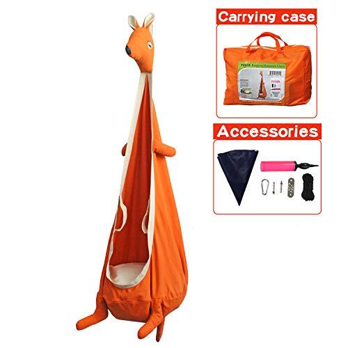 YOOBE Kangaroo Child Hammock Pod Swing Chair Nook Animal Tent – Kids Outdoor Indoor Swing Cloth Hanging Seat – Include Hardware Kit