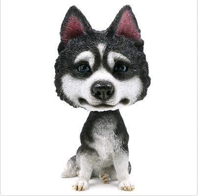 Huskies Huskie Head - FidgetGear BobbleHead Husky Huskie Dog Ornament Figurine Home Car Decor