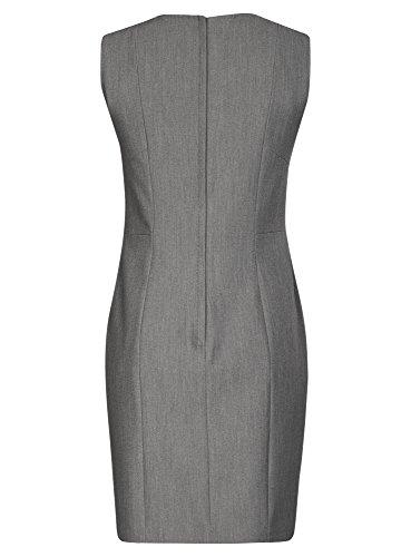 oodji Collection Mujer Vestido Básico sin Mangas Gris (2500M)