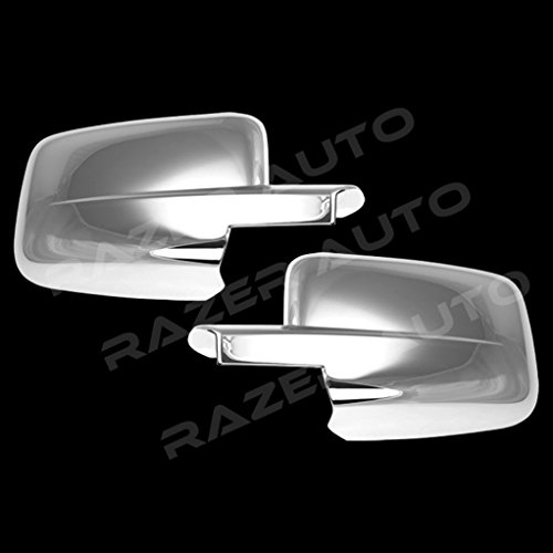 Razer Auto Triple Chrome Plated Full Mirror Cover (not for towing mirror) for 09-14 Dodge Ram 1500/2500/3500 ()