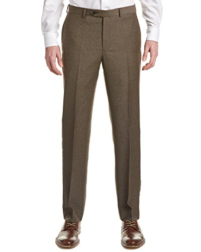Brooks Brothers Mens Wool Fitzgerald Trouser, 34/32, Brown