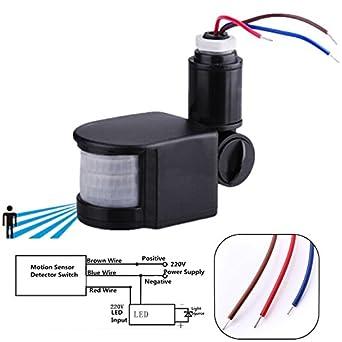 kinwat 110 220v outdoor led infrared motion sensor detector wall motion  sensor wiring diagram light sensor wiring diagram 110