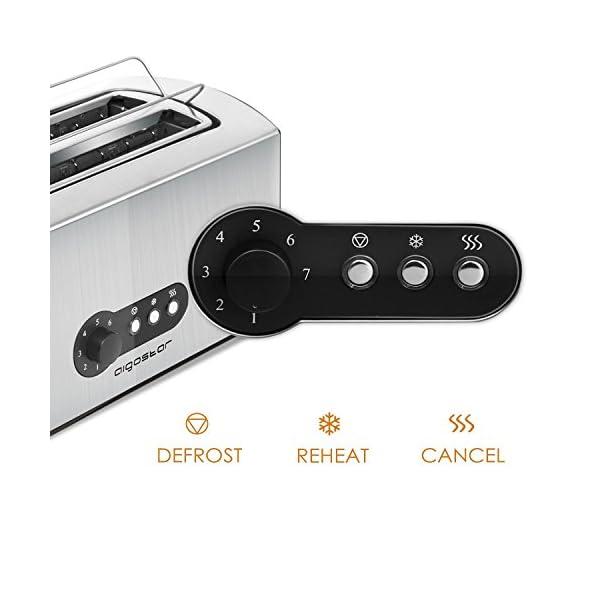 Aigostar Sunshine 30KDG - Tostapane 1600W a 4 sezione in acciaio inox con il vassoio raccoglibriciole rimovibile per una… 5