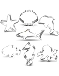 amazon halloween cookie cutters baking tools accessories 49th Birthday under the sea creatures cookie cutter set 3 5 3 7 piece