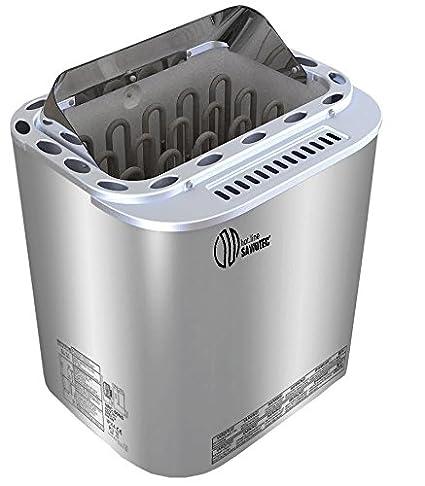 ABATEC Sawo Nordex Combi bio – Estufa para sauna 8 kW con evaporador BI de O