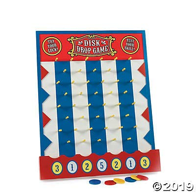 Disk Drop Carnival Game (Wood) Includes 6 Disks: Kitchen & Dining