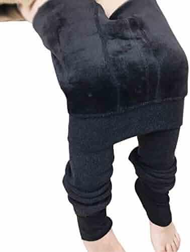 2dedf743f4f9b Tulucky Girls Tight Pants Winter Warm Fleece Lined Elastic Teens Leggings