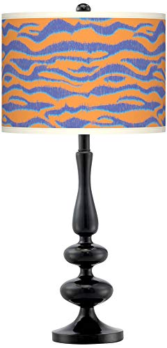 Sunset Stripes Giclee Paley Black Table Lamp - Giclee Gallery