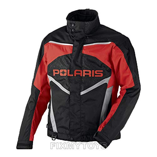 (OEM Polaris Mens Snowmobile Red Throttle Jacket Insulated Size S-3XL)