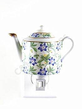 Floral Teapot Porcelain Flower Night Light ,Night Lamp ,Decotations Night Lights By C&H®
