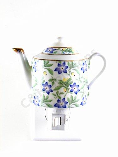 Floral Teapot Porcelain Flower Night Light ,Night Lamp ,D...