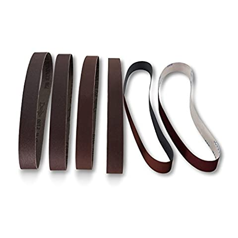 1 x 30 Knife Makers Fine Grit Sanding Belts, 6 Pack Assortment (30 Sanding Belt)
