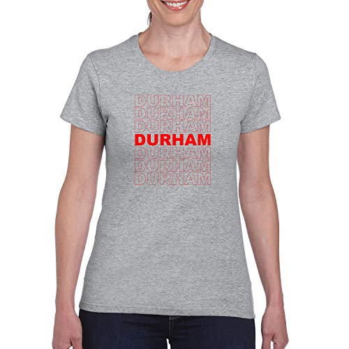 Red Box Logo Durham City Pride Womens Graphic T-Shirt, Heather Grey, Large -