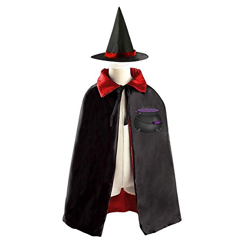 Halloween Witch's Cauldron Decoration Props Witch Wizard Cloak Double-sided Cosplay Reversible Costumes Hat (No Cost Halloween Costume Ideas)