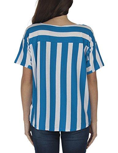 Bench Mask - Camiseta Mujer Blanco / Azul