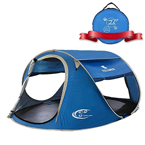 ZOMAKE Pop Up Tent 3 4 Person, Beach Tent Sun Shelter for Baby with UV Protection - Automatic and Instant Setup Tent for Family (Blue)