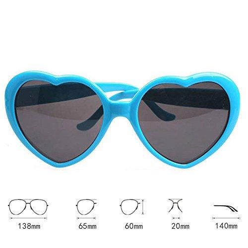 ee65953386 85% OFF Deylaying 2 pares Oversized En forma de corazón Retro Gafas de sol  Cute