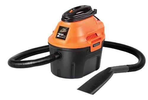 Dry Portable Vacuum (Armor All 2.5 Gallon, 2 Peak HP, Utility Wet/Dry Vacuum, AA255)