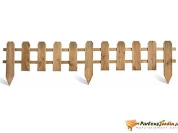 Bordure de jardin en bois ajourée à planter: Amazon.fr: Cuisine & Maison