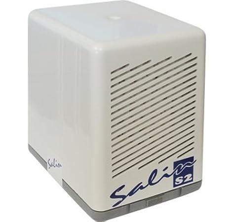 Salin S2 - Sistema de filtro de aire de sal natural, terapia de aire salino, filtro de polen, filtro de polvo, purificador de aire, color blanco: Amazon.es: Jardín