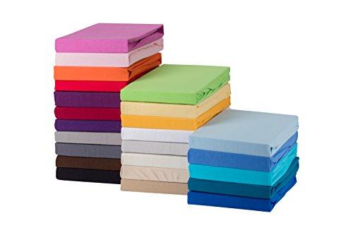 STARCK Soft Comfort Baumwolle Jersey-Stretch Spannbettlaken, Weiß 180x200cm bis 200x200cm